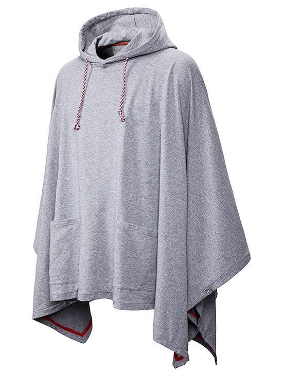 Front Pockets Gothic Cloak Hoodie - LIGHT GRAY 2XL