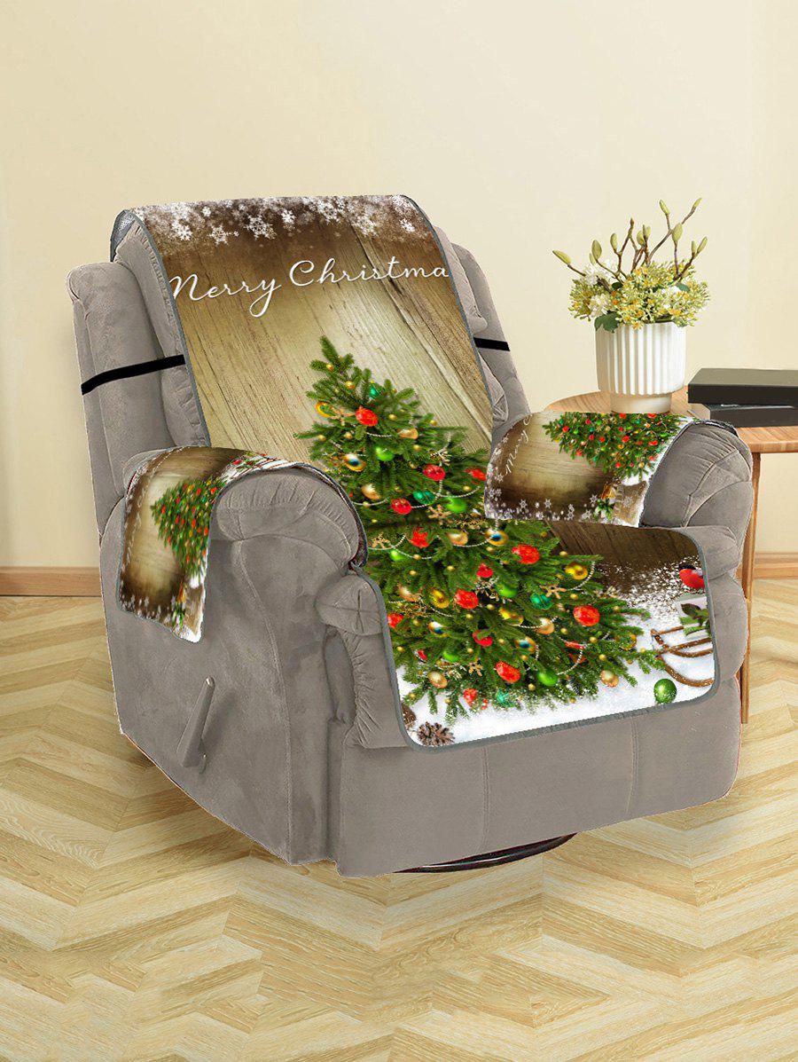Merry Christmas Tree Couch Cover - FERN GREEN SINGLE SEAT