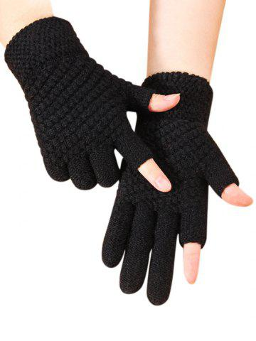 dresslily Solid Simple Thick Winter Study Gloves