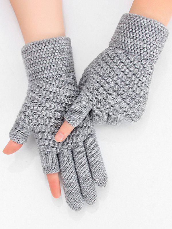 Solid Simple Thick Winter Study Gloves - DARK GRAY