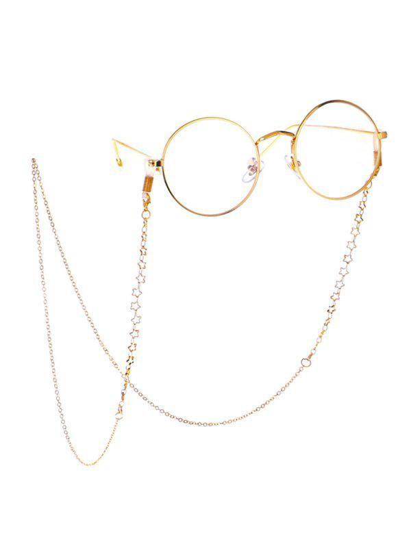 Hollow Out Stars Sunglasses Lanyard - GOLD