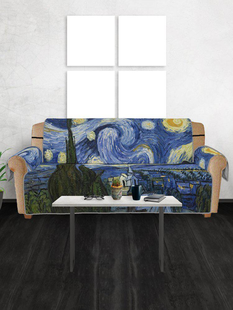 Abstract Print Couch Cover - multicolor THREE SEATS