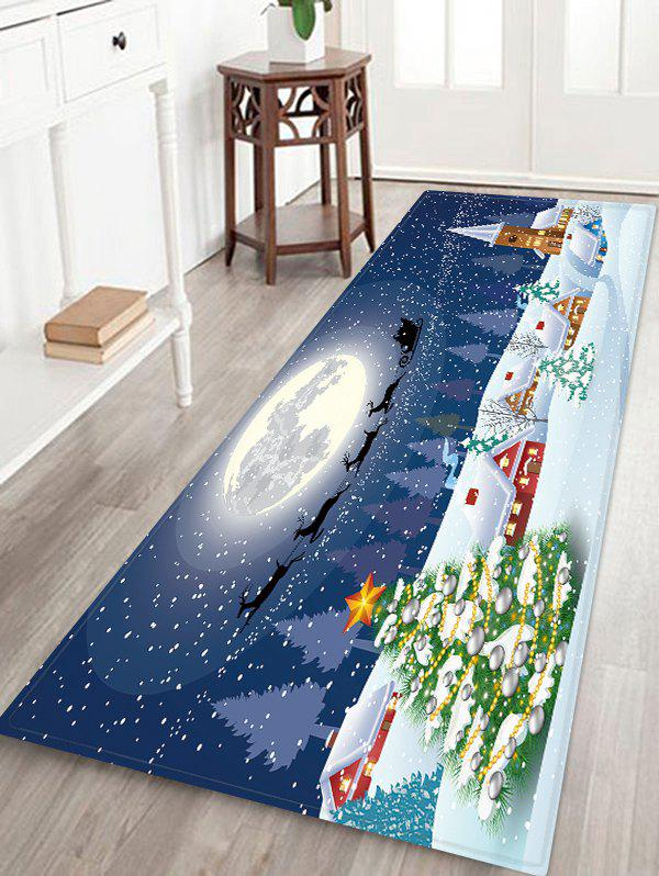 Christmas Tree Moon Floor Rug - multicolor W24 X L71 INCH