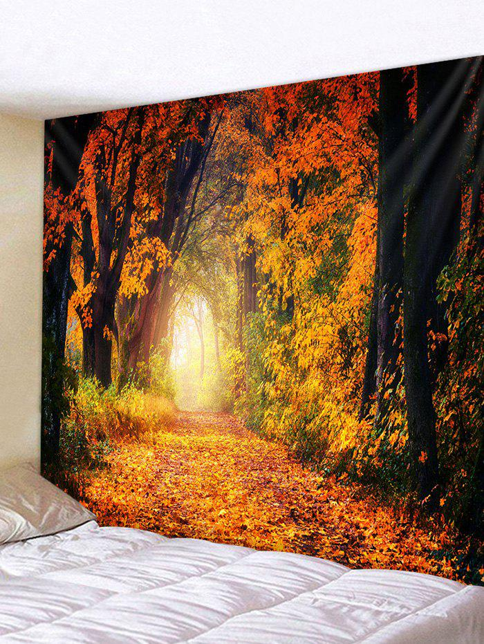 Autumn Forest Printed Tapestry - multicolor W91 X L71 INCH