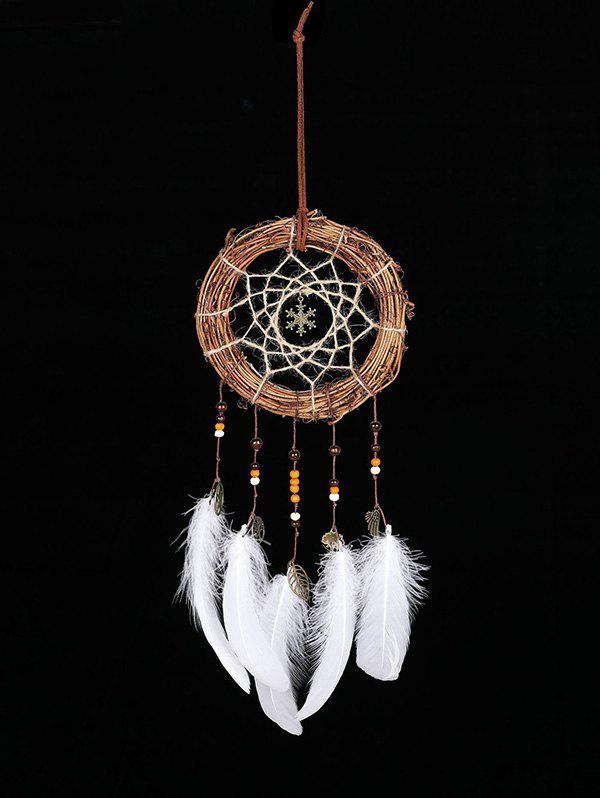 Christmas Snowflake Shape Handmade Indian Dream Catcher - WHITE WITHOUT LIGHTS