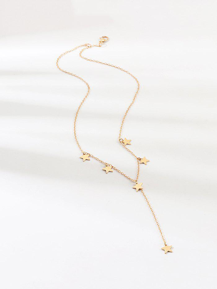 Metal Star Pendant Necklace - GOLD