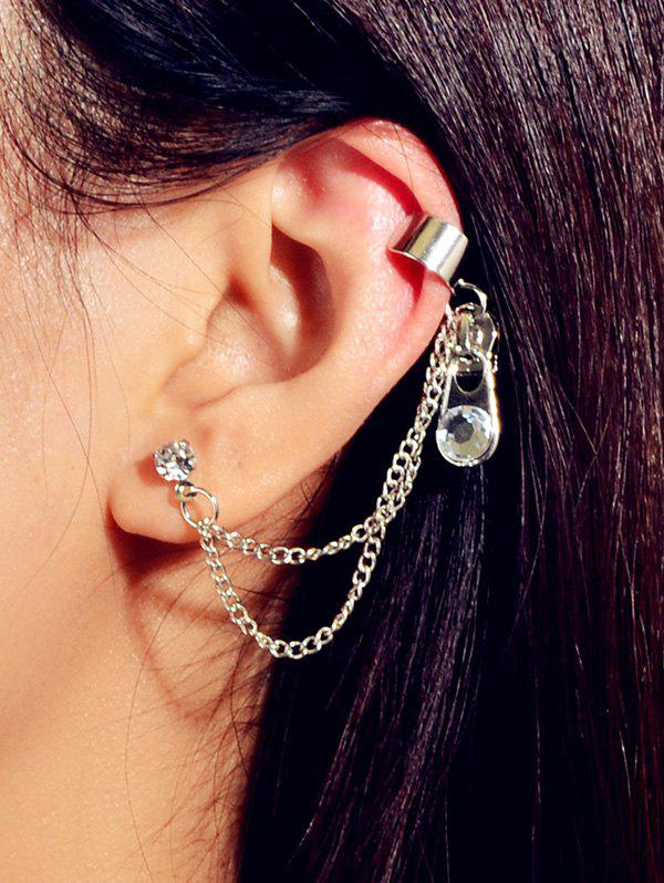 Image result for chain ear cuff