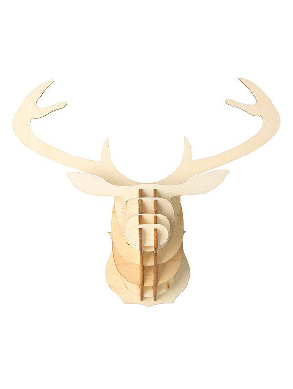 Christmas Decoration DIY Wooden Elk Head - BURLYWOOD