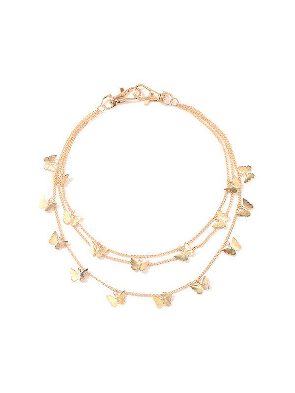 Butterfly Pendant Multilayered Waist Chain - GOLD
