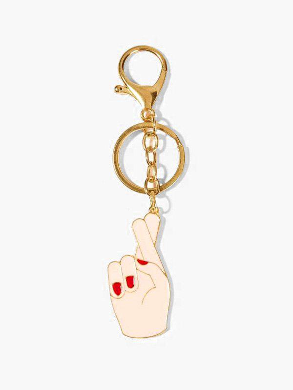 Gesture Pendant Alloy Key Chain - GOLD