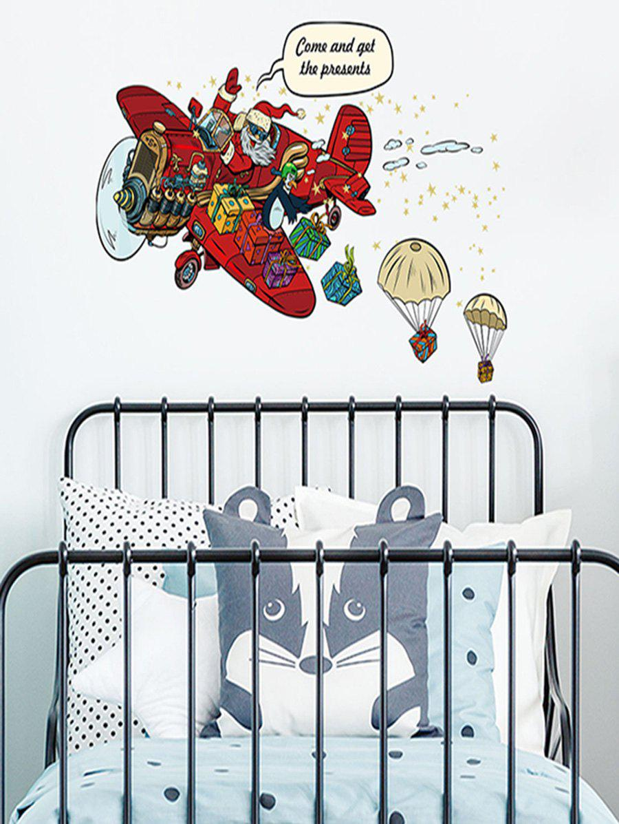 Father Christmas Gift Design Wall Sticker - multicolor 45*60CM