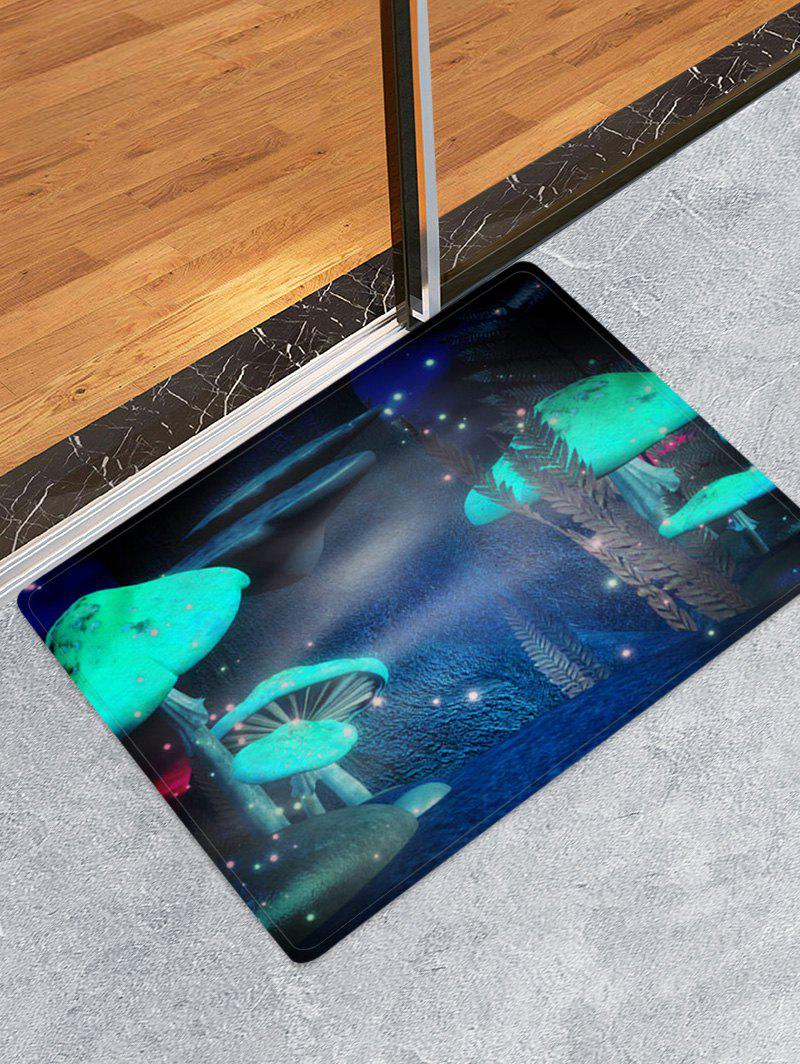 Mushroom Firefly Print Water Absorption Area Rug - multicolor A W16 X L24 INCH