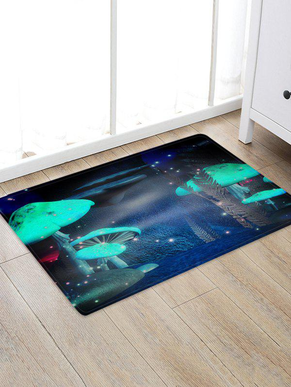 Mushroom Firefly Print Water Absorption Area Rug - multicolor A W20 X L31.5 INCH