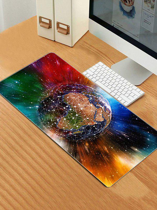 Colorful Earth Patterned Large Mouse Pad - multicolor 80*30*0.3CM