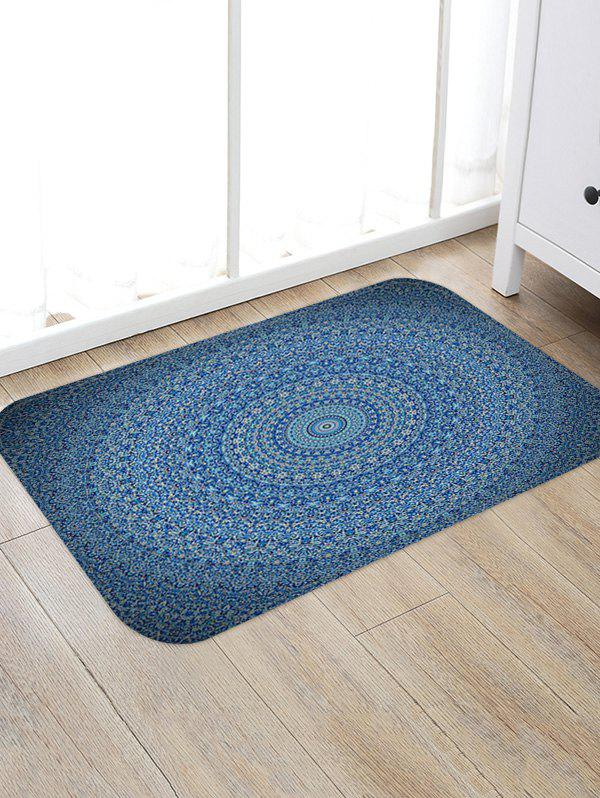 Bohemian Trippy Patterned Water Absorption Area Rug - multicolor A W20 X L31.5 INCH