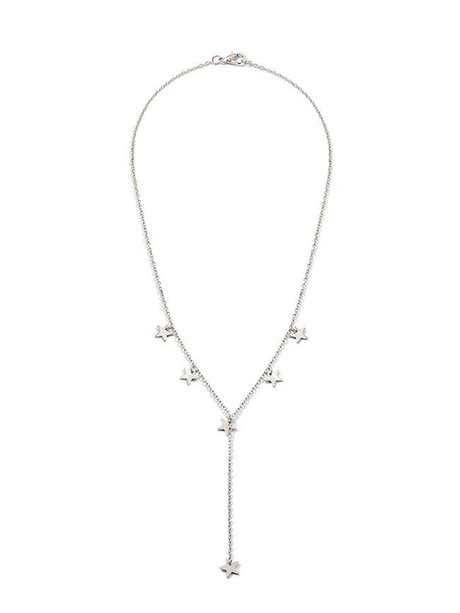 Metal Star Pendant Necklace - SILVER