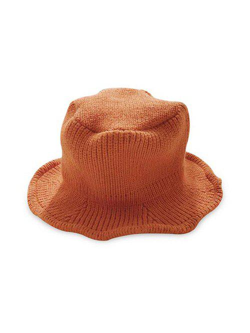 Solid Knitted Winter Hat - TANGERINE