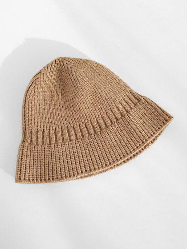 Winter Casual Knitted Hat - DEEP BROWN