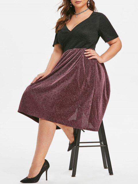 Plus Size Two Tone Sparkle Party Dress