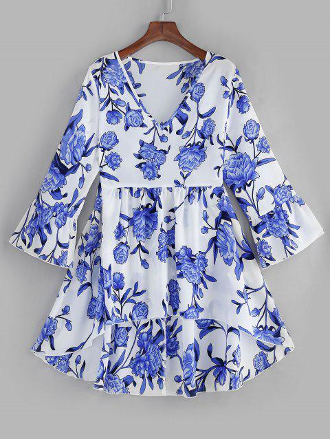 Plus Size Floral High Low Top