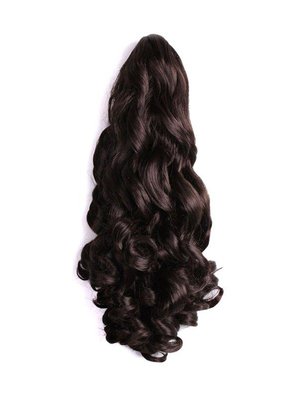 Long Big Wave Synthetic Claw Ponytail - DEEP BROWN