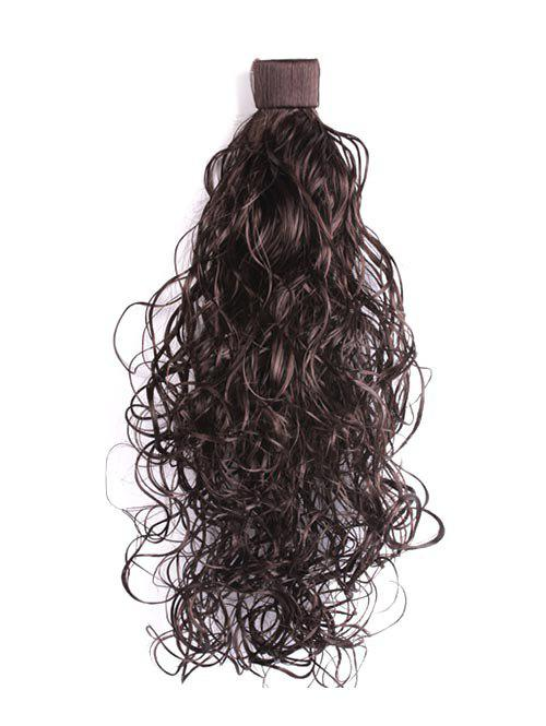 Synthetic Wavy Long Ponytail Hair Piece - BLACK EEL