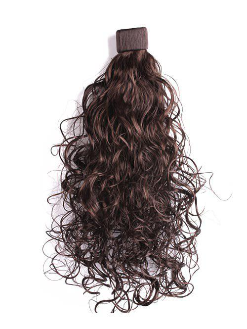 Synthetic Wavy Long Ponytail Hair Piece - COFFEE