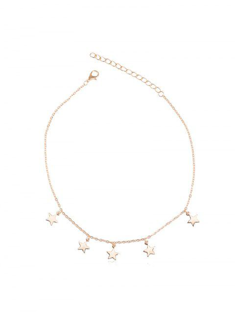 Star Pendant Metal Chain Choker Necklace
