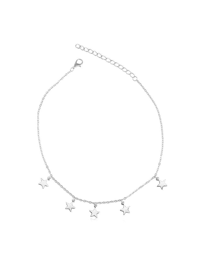 Star Pendant Metal Chain Necklace - SILVER