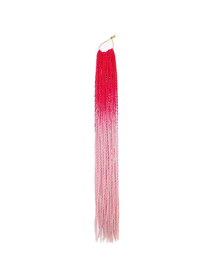 Ombre Afro Braid Synthetic Long Hair Piece - PINK