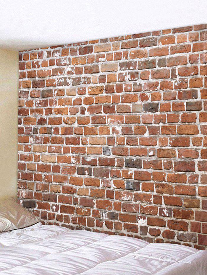 Brick Wall Pattern Tapestry Wall Hanging Art Decoration - RUST W59 X L51 INCH