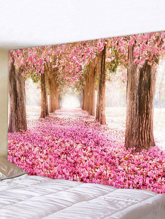 Valentines Day Flower Forest Print Tapestry Wall Hanging Art Decoration - multicolor W91 X L71 INCH
