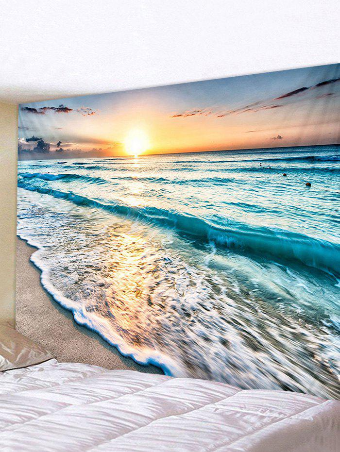 Sunset Sea Print Tapestry - multicolor W118 X L79 INCH