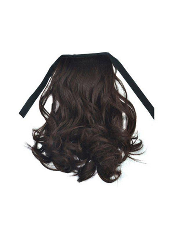Medium Wavy Synthetic Ponytail Hair Piece - TAUPE