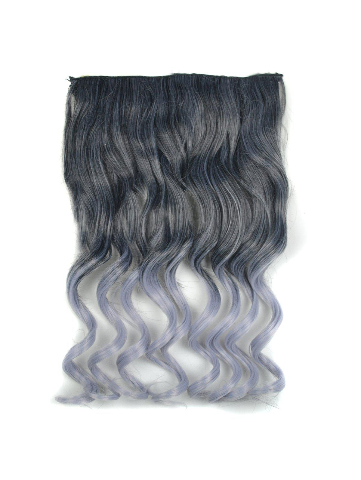 Ombre Long Body Wave Synthetic Hair Piece - SMOKEY GRAY