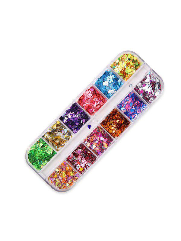Moon And Stars Mixed Sequin Nail Decorations - multicolor F