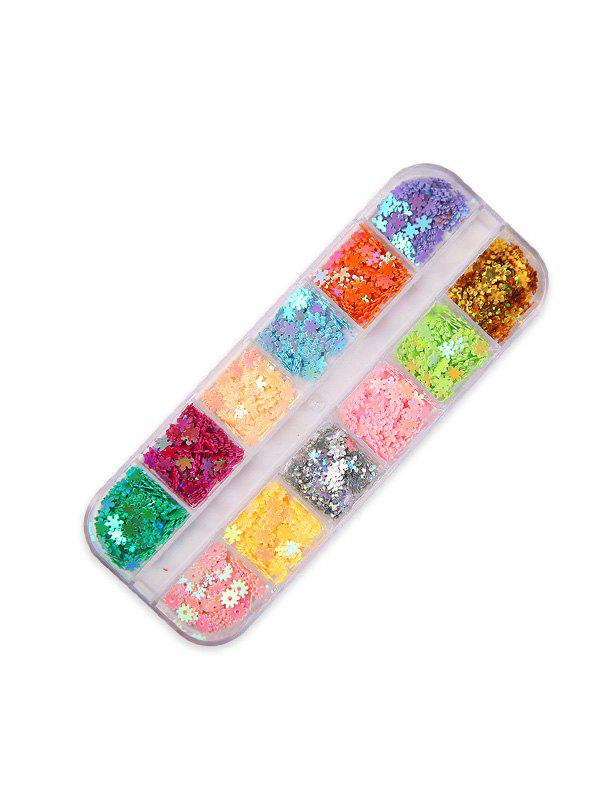 Moon And Stars Mixed Sequin Nail Decorations - multicolor G