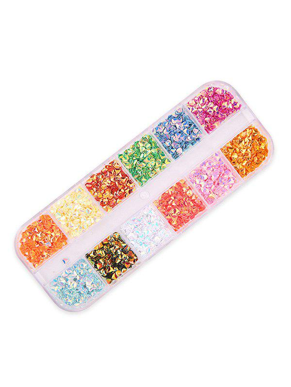 12 Color Mixed Sequined Nail Decoration - multicolor D