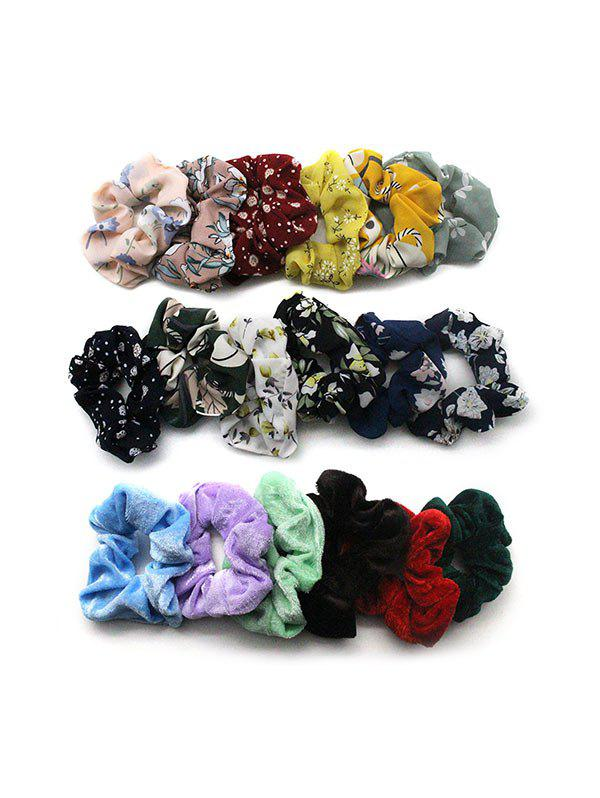 18PCS Vintage Hair Scrunchies