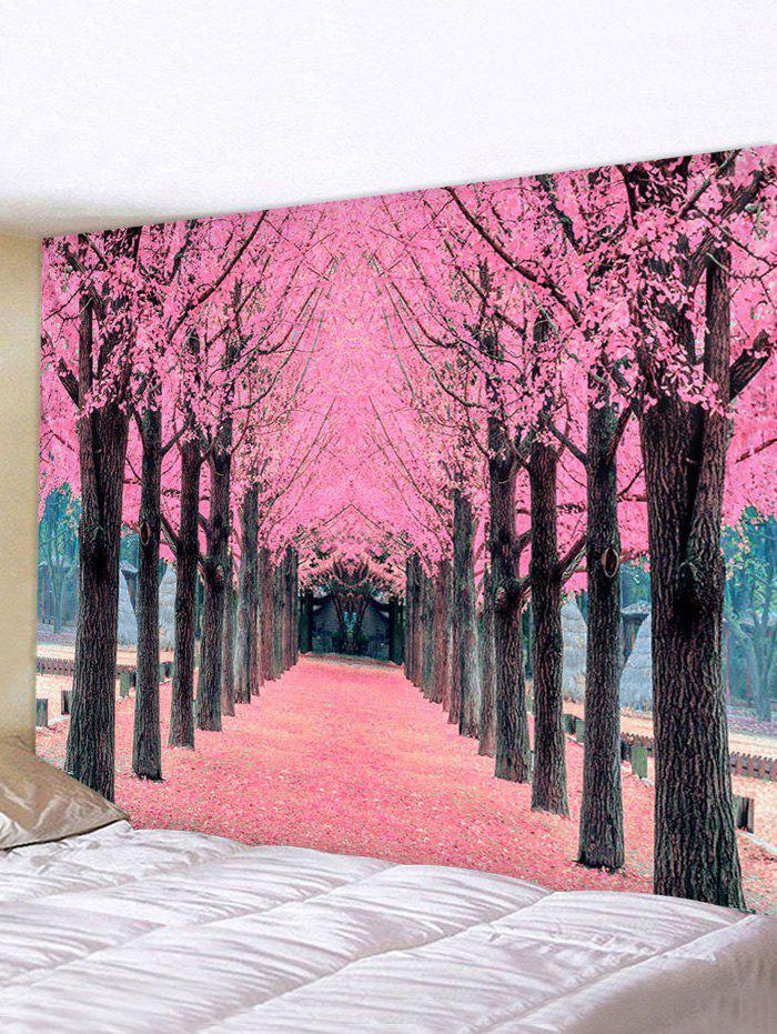 Valentine Flower Forest Road Print Tapestry Wall Hanging Art Decoration - multicolor W118 X L79 INCH