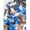 Allover Butterfly Print Long Sleeve Shirt - WHITE L