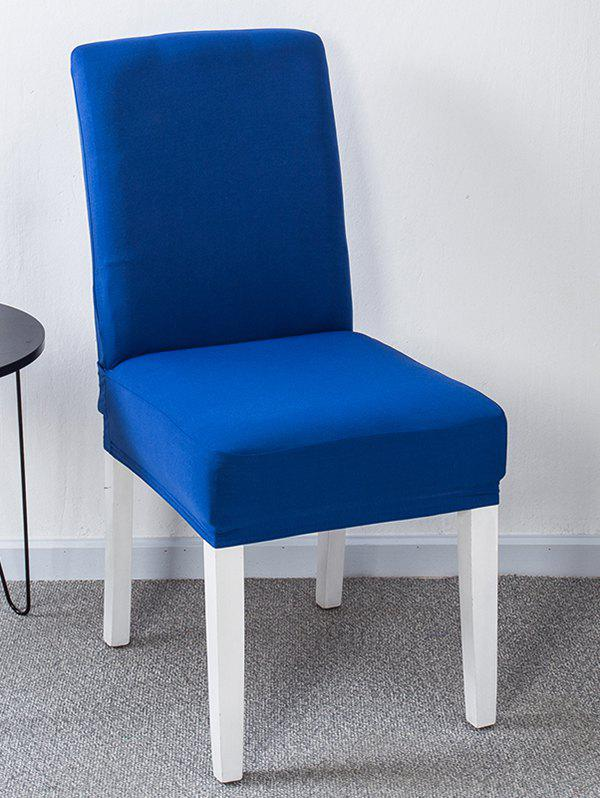 Solid Color Stretch Chair Cover - COBALT BLUE