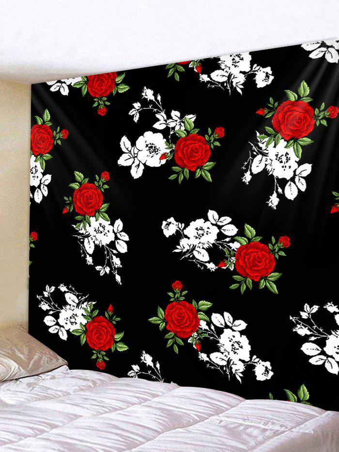 Flower Print Hanging Wall Tapestry - multicolor W91 X L71 INCH