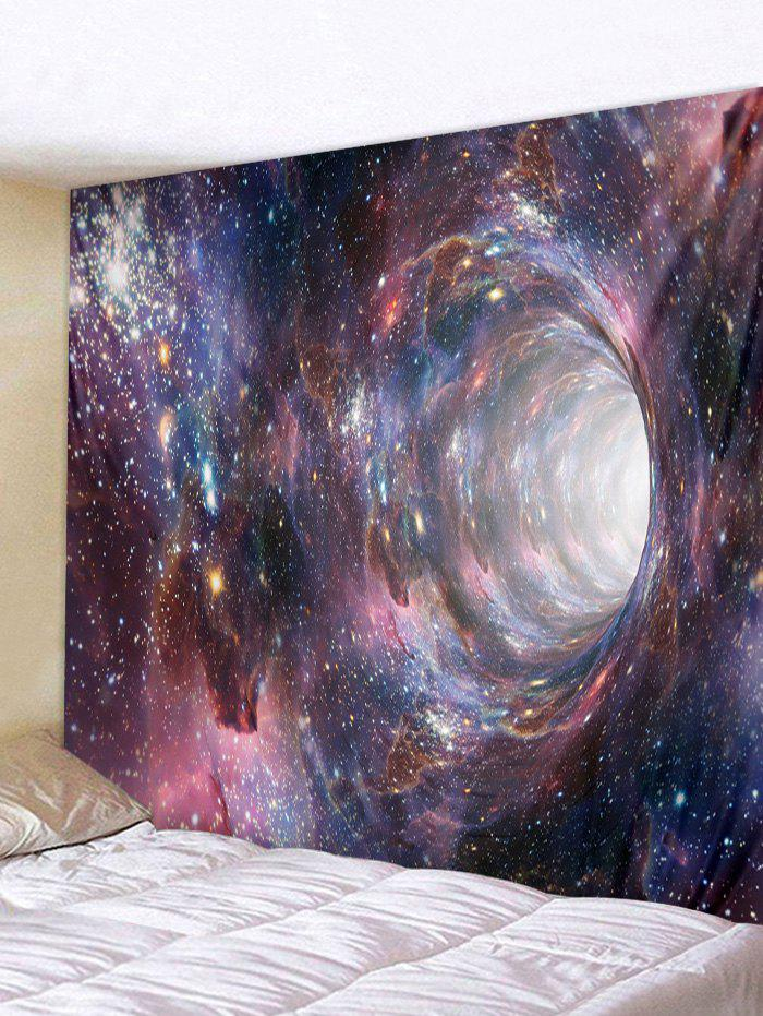 Starry Sky Black Hole Print Tapestry - VIOLA PURPLE W91 X L71 INCH