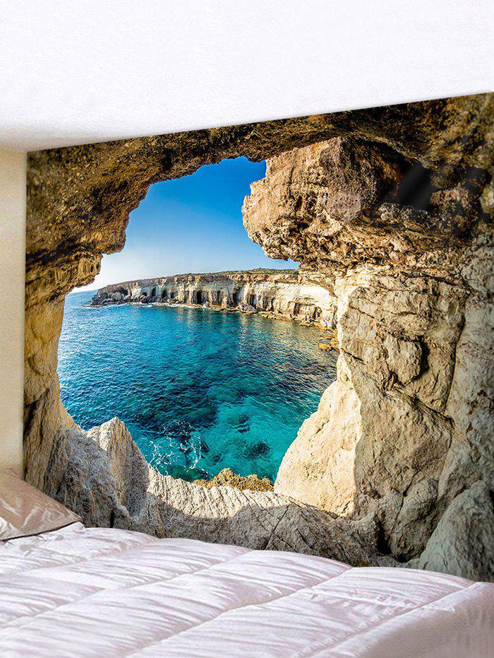 Sea Hole Landscape Print Wall Hanging Tapestry - multicolor W91 X L71 INCH