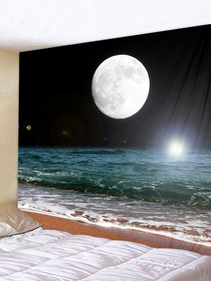 3D Moon Sea Printed Tapestry - multicolor W91 X L71 INCH