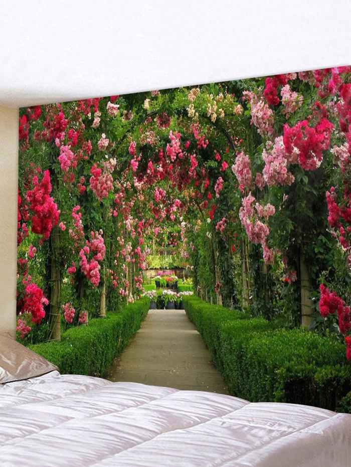 3D Flower Garden Printed Tapestry - multicolor W91 X L71 INCH