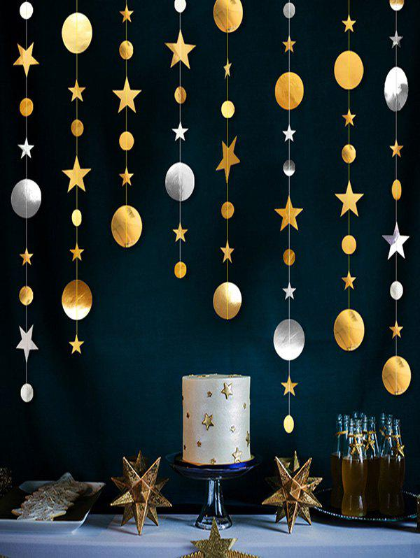 Party Decorations 4 Meters Moon and Stars Pattern Party Banner - multicolor A