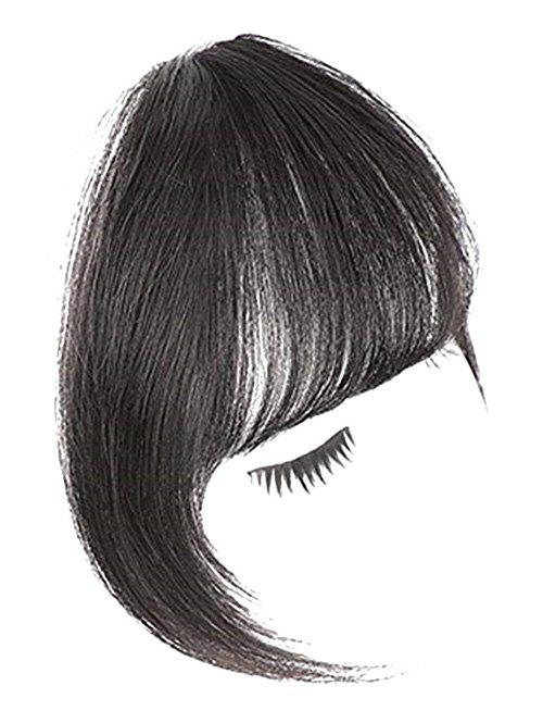 Human Hair See-through Bang - Noir
