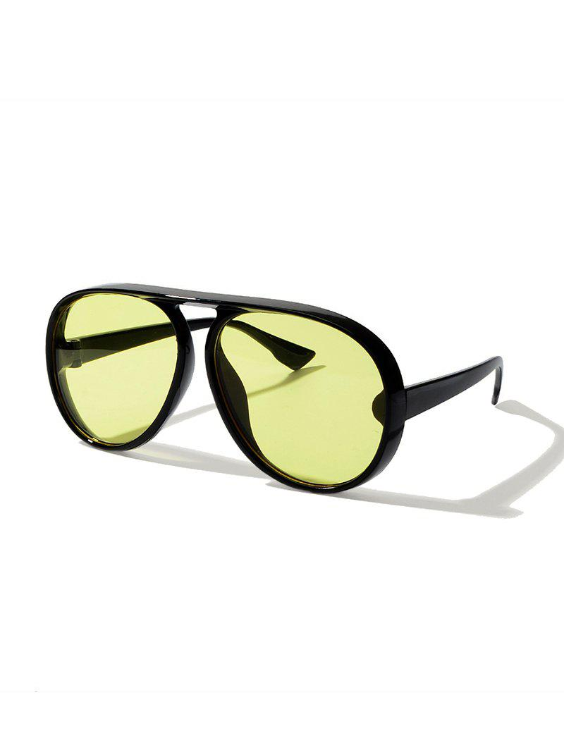 Beach One-piece Pilot Sunglasses - YELLOW